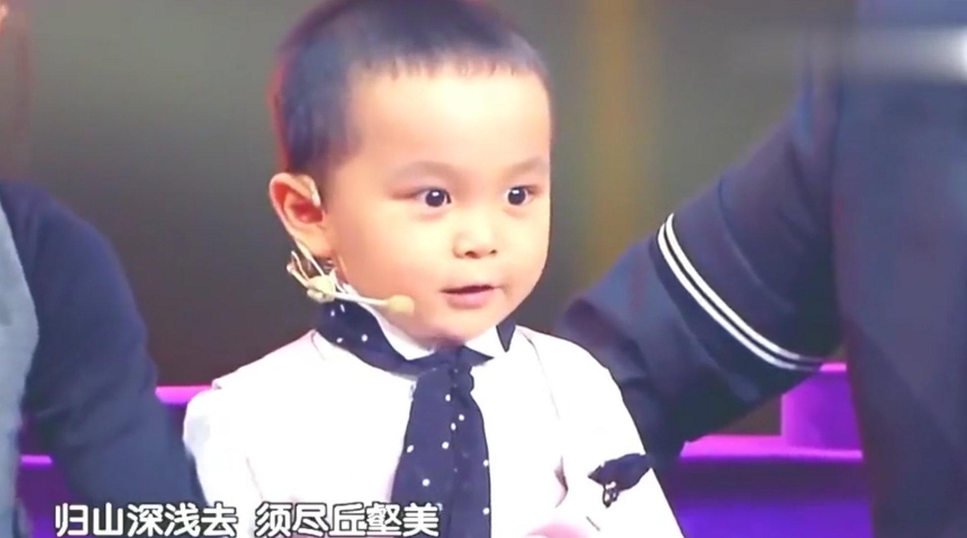 3岁萌娃王恒屹萌翻了,孟非:你很红啊!王恒屹:骄傲使人落后!