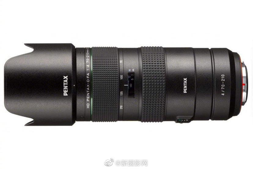 理光发布宾得HD PENTAX-D FA 70-210mm F4 ED SDM WR镜头
