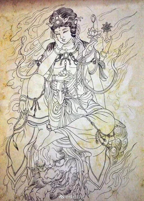 传统人物白描