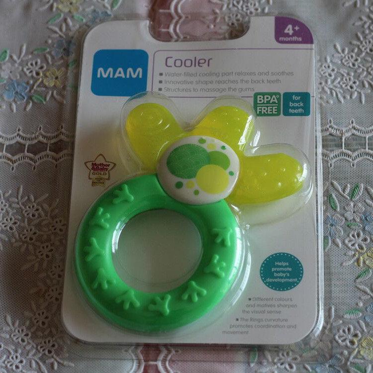 @新浪育儿 MAM牙胶,产自泰国,适合4个月以上的宝宝