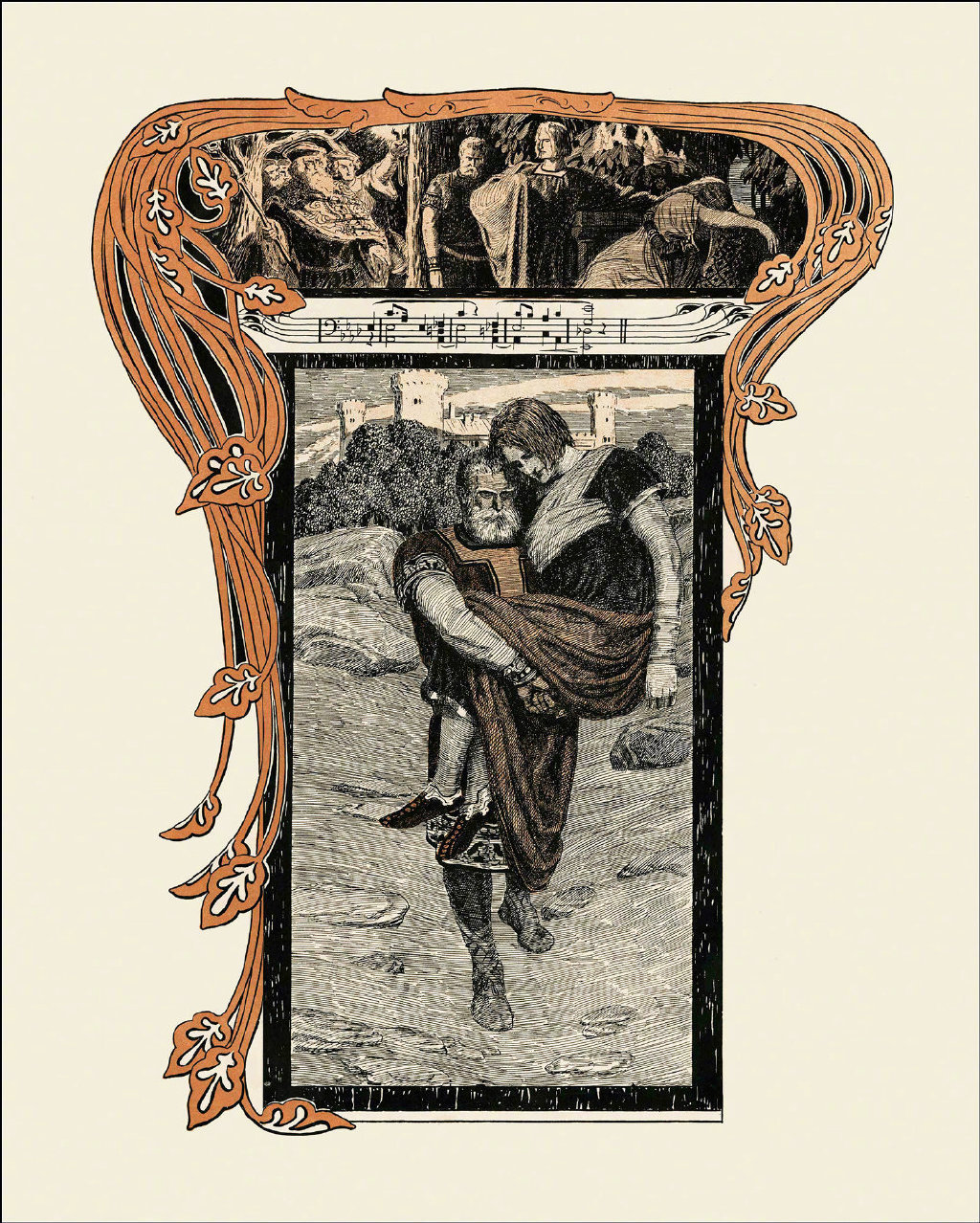 19世纪插画家Franz Stassen为浪漫主义音乐大师瓦格纳的歌剧《特里斯