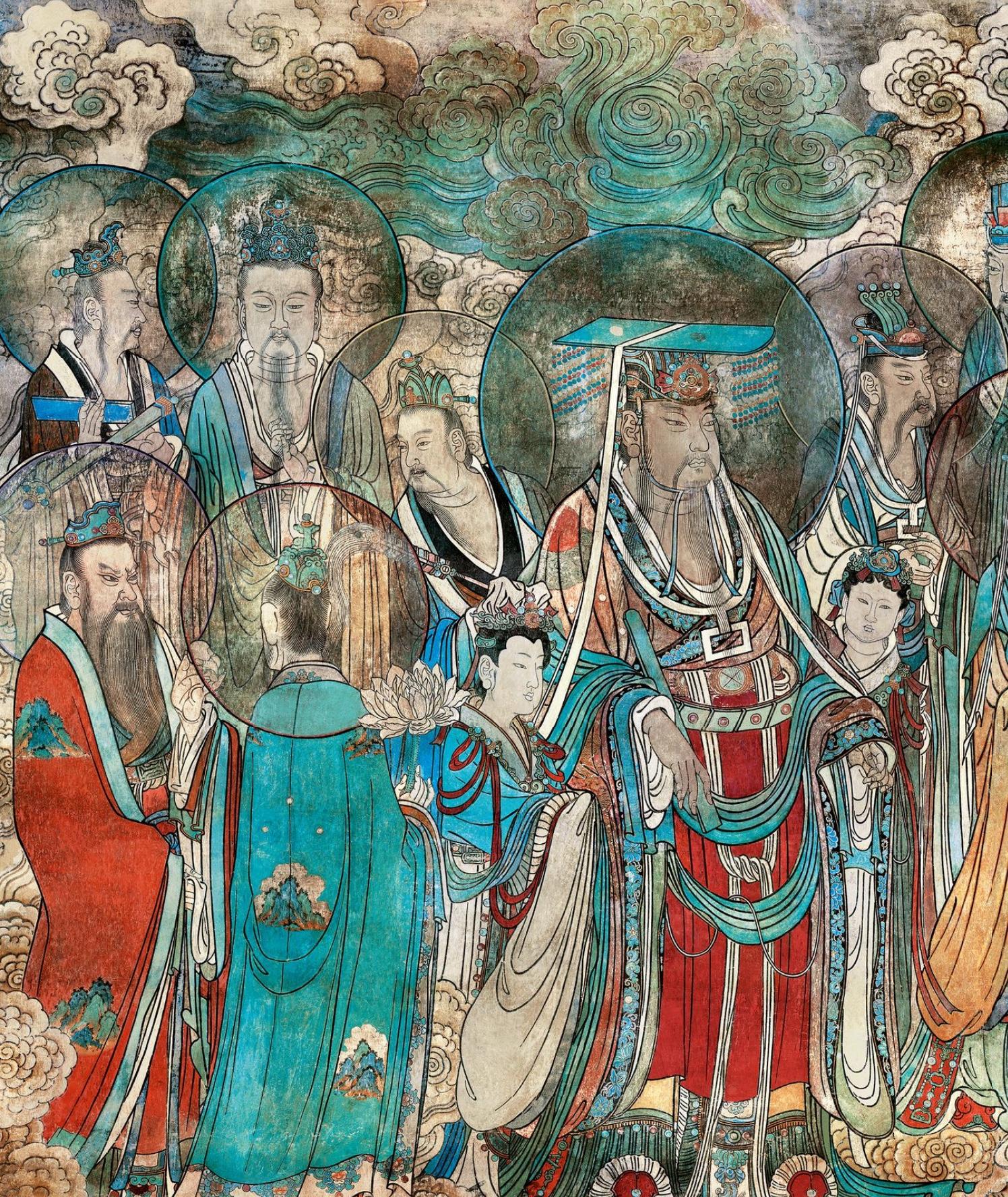 永乐宫壁画《朝元图》 .