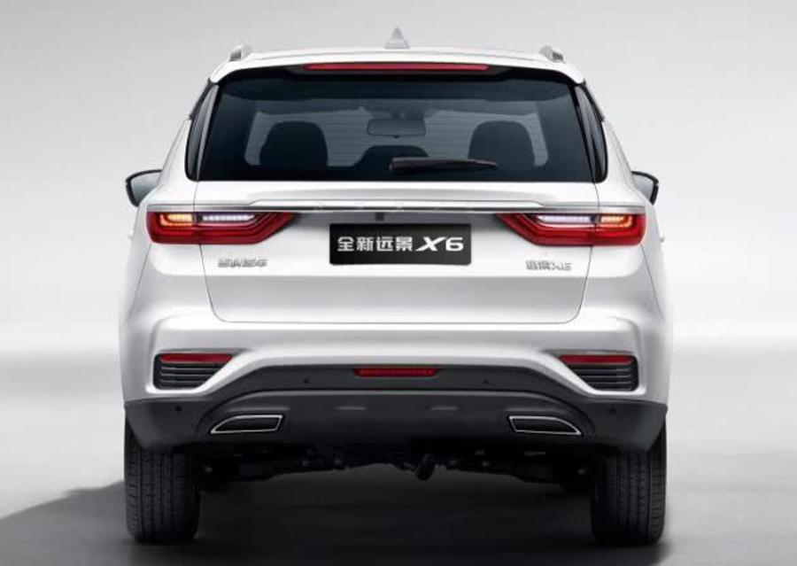 采用全新黑色品牌logo 吉利远景X6官图发布