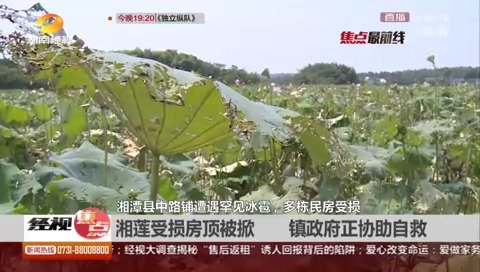 湘潭县罕见冰雹 700平厂房房顶被吹跑