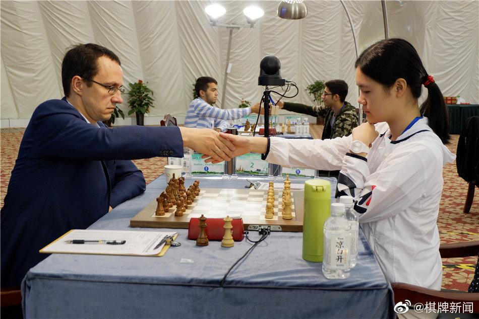 高清-红石沟杯公开赛最终轮 朱锦尔对阵俄罗斯瓦蒂姆