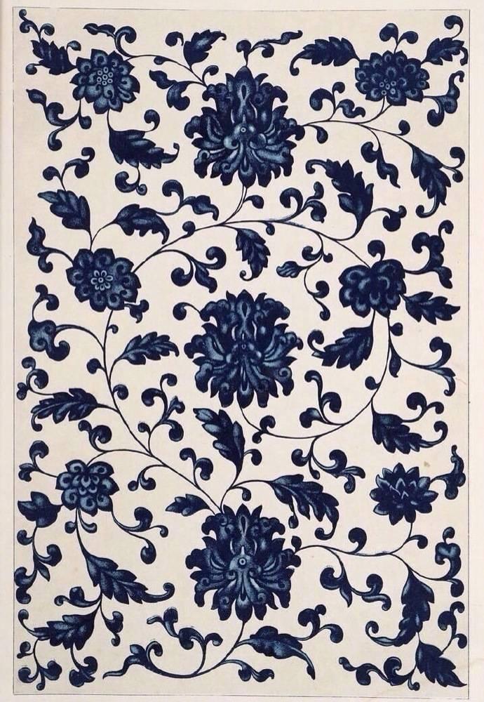 中国古代青花蓝纹饰,传统艺术之美。