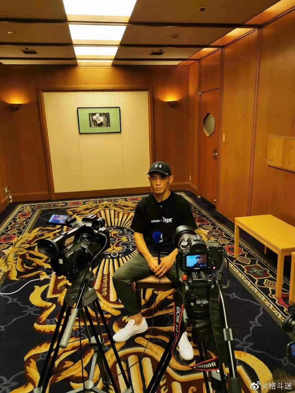 武林风中国勇士在日本K-1的赛前采访环节与公开练习环节