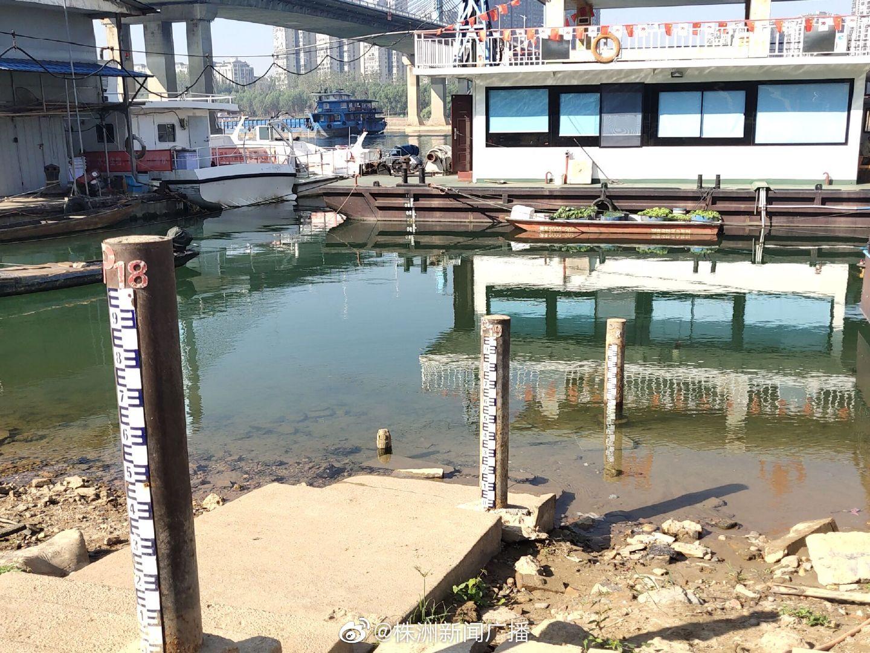 湘江株洲段水位逼近历史最低值