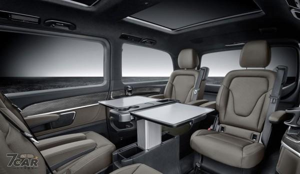 奔驰V-Class豪华商旅车推小改款,后座这一功能突显豪车享受