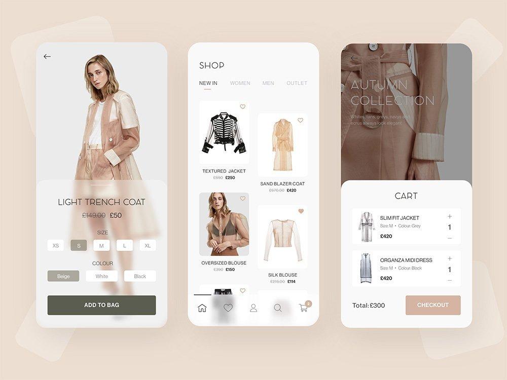 潮流范儿!一组时尚感页面设计欣赏,大胆的图片的选择