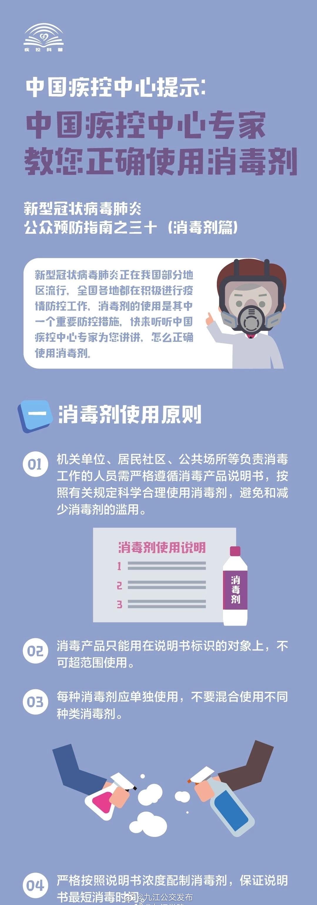 中国疾控中心专家教你如何正确使用消毒剂图片来源:中国疾控中心