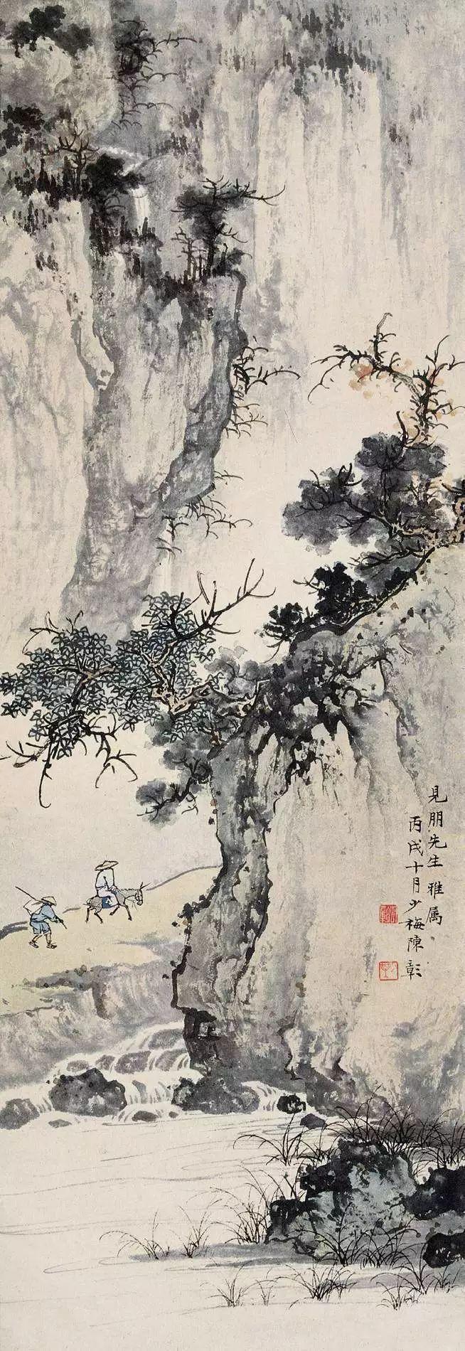 陈少梅作品始终洋溢着和谐的节奏与优雅的韵律