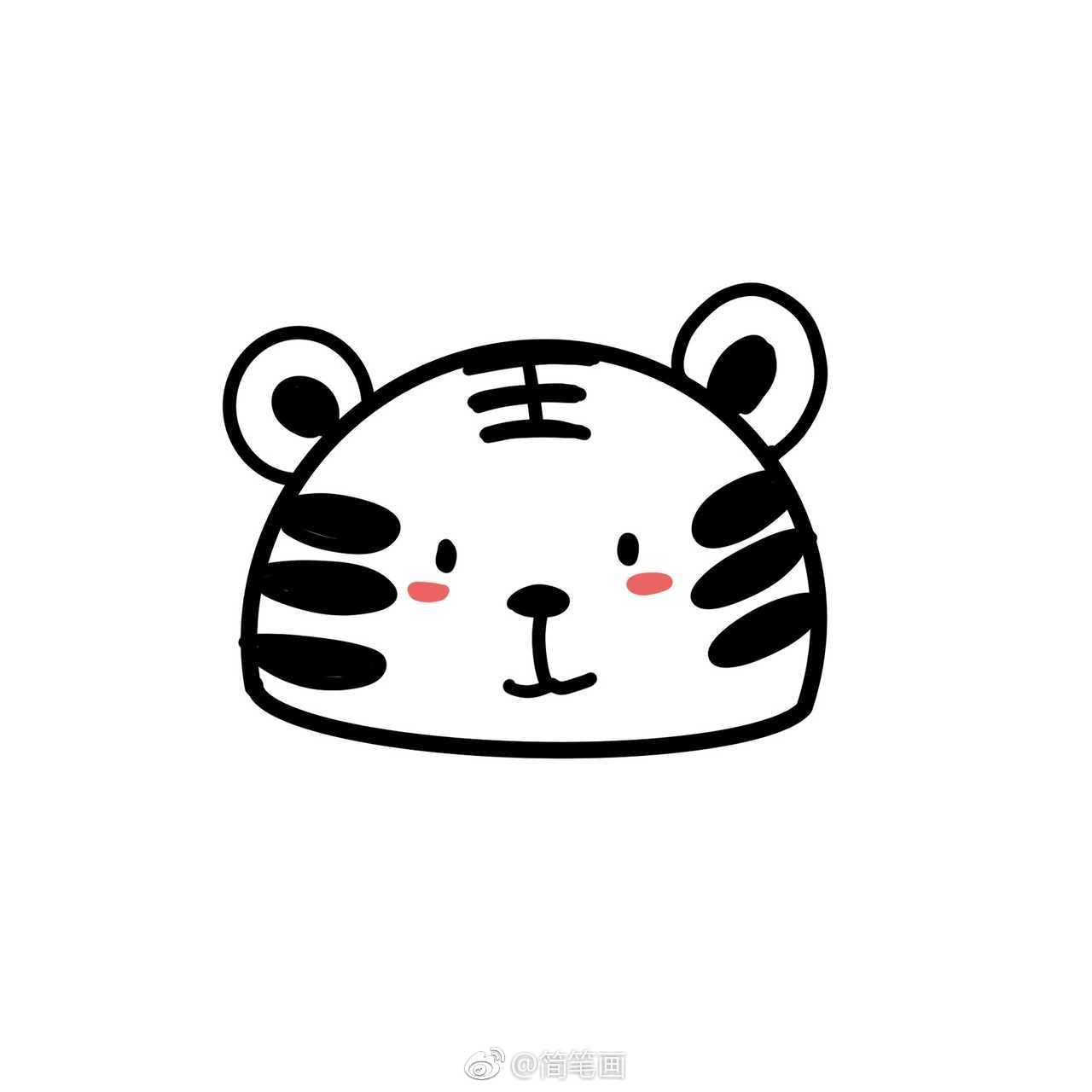 敲可爱的动物简笔画小头像 投稿 爱画画的ruoyu 简笔画 头像 投稿 新浪网