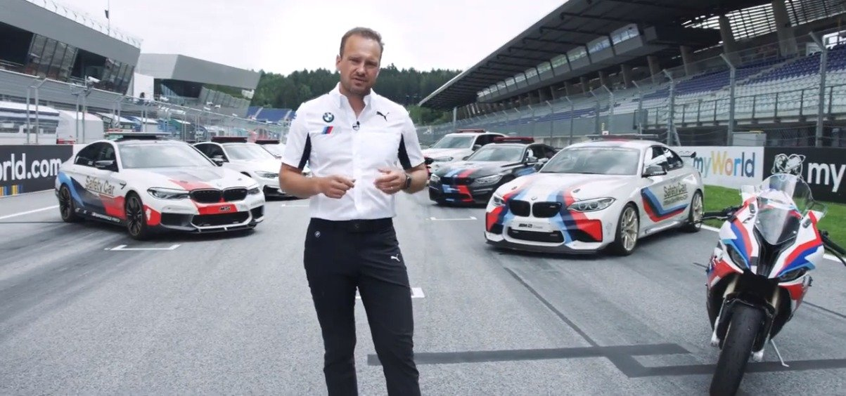 BMW M的CEO Markus Flasch,介绍宝马M8 MotoGP Safety Car,625匹