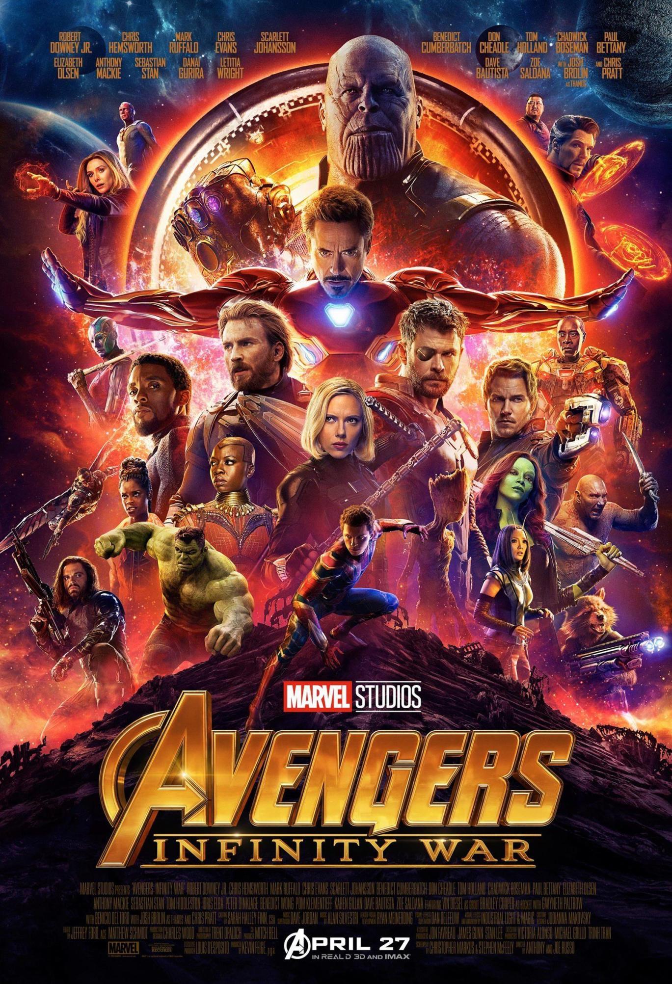 漫威电影宇宙第三阶段十部电影,《复仇者联盟4》压轴出场!