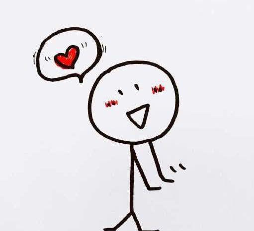 一个害羞想你的表情,可爱十足哟,要是想对方啦,害羞说不出口,就可以画图片