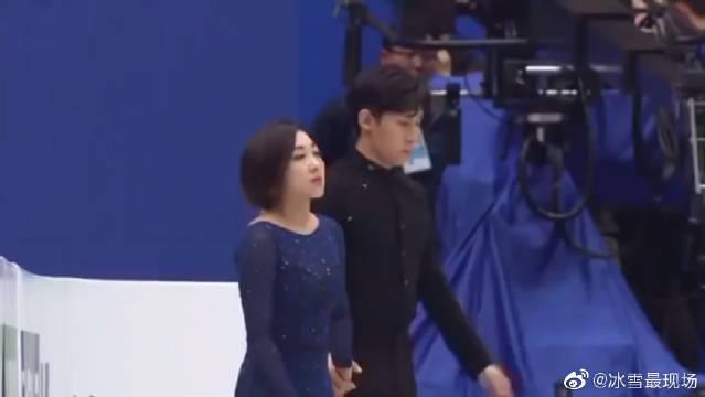2019花样滑冰世锦赛双人自由滑,中国隋文静、韩聪组合强势夺冠!
