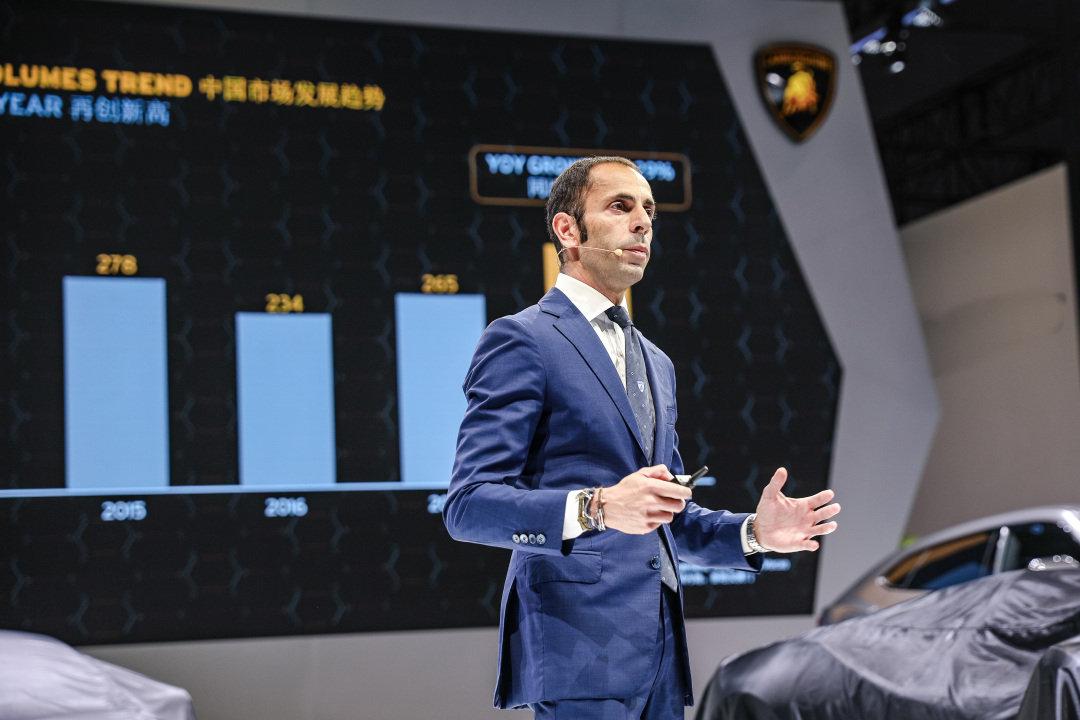 兰博基尼中国内地、香港及澳门的销量同比增长了29%