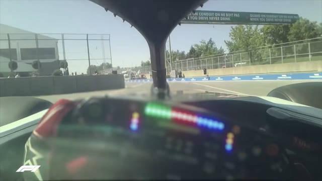 这不是游戏,这是来自F1哈斯车队在维伦纽夫赛道的第一人称角度车载
