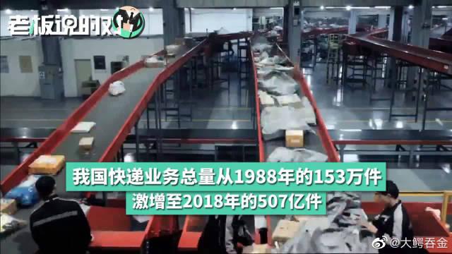 中国包裹快递总量507亿件!超美国、日、欧等发达经济体总和