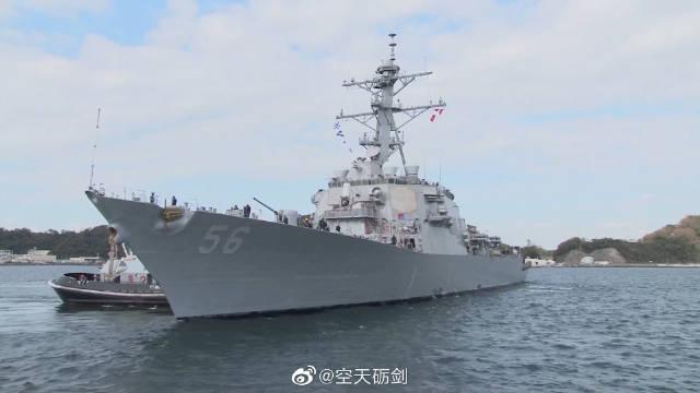 """美国海军""""约翰·麦凯恩""""号导弹驱逐舰出海测试"""
