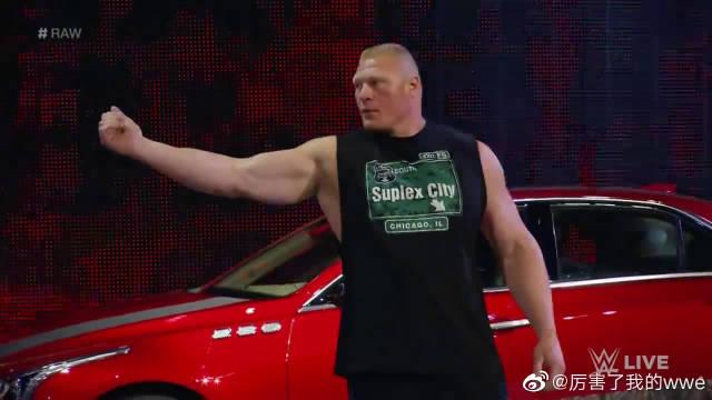 WWE真有钱,为了吸引观众,直接让布洛克·莱斯纳砸豪车!