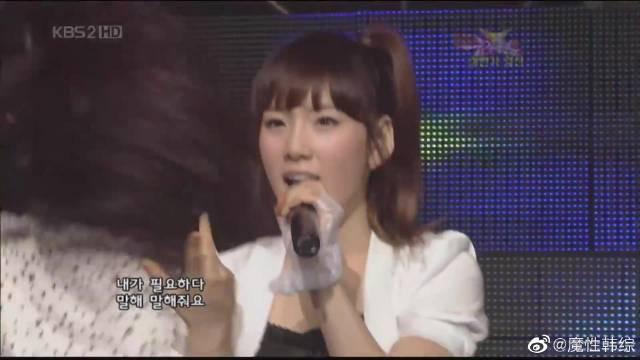 当Tell me遇上Kissing you少女时代与Wonder Girls交换舞台不是半空