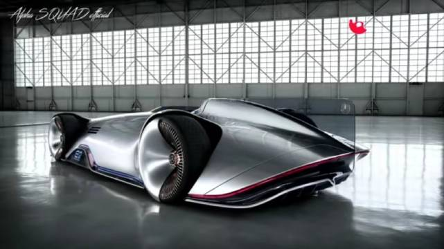 """美国加州圆石滩,梅赛德斯-奔驰Vision EQ银箭概念车""""震""""动全球"""