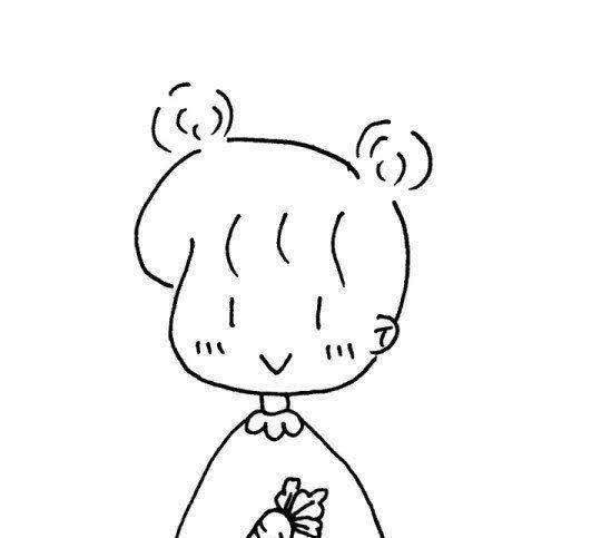 女孩头简笔画漂亮可爱