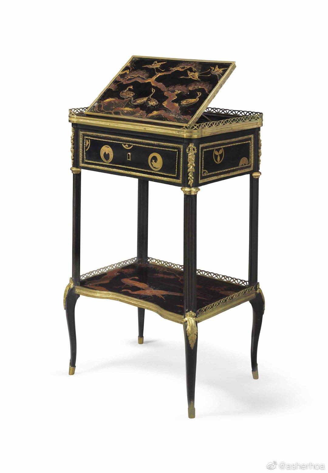 1775-1780年间法王路易十六的御用书桌