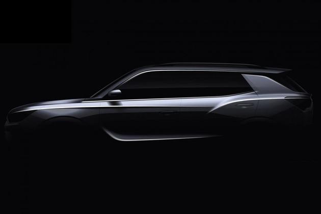 双龙全新柯兰多预告图发布 风格硬朗 将于日内瓦车展首发