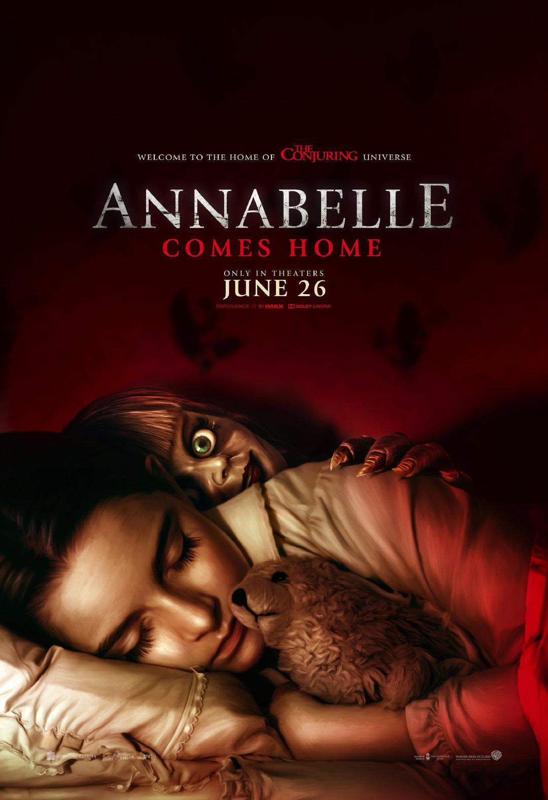 《安娜贝尔3:回家》烂番茄口碑及MTC综合评分解禁,北美6月26日上映