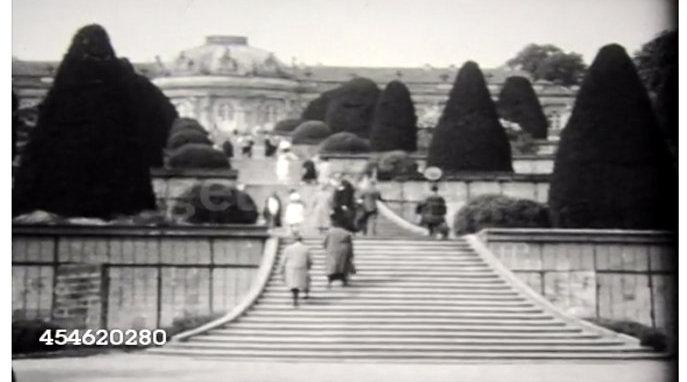 历史回放  1930年法国凡尔赛宫  昔日法国国王的宫殿
