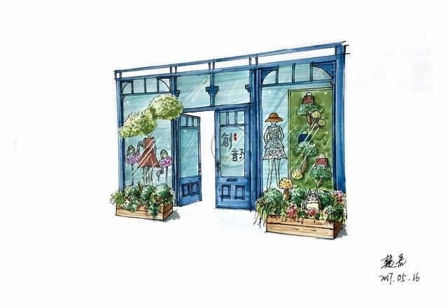 dodowed婚礼手绘推荐系列之创韵设计工作室花艺橱窗手绘