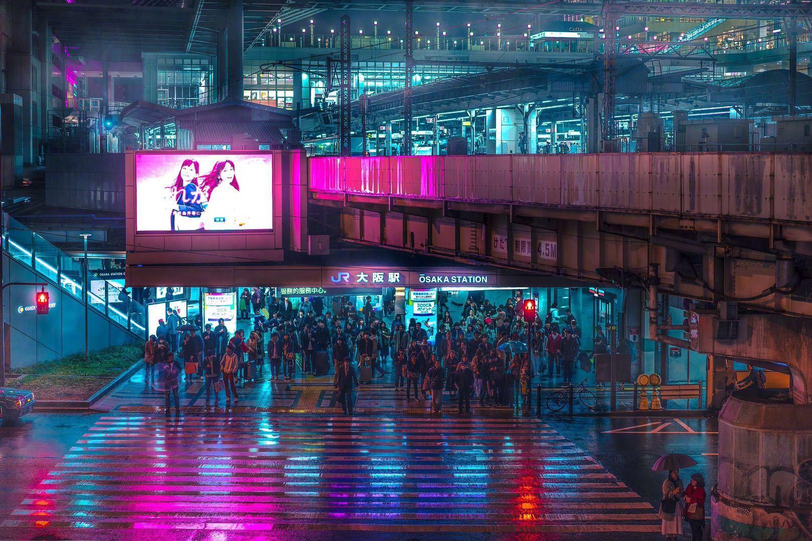 雨天的大阪,完全是银翼杀手的即视感
