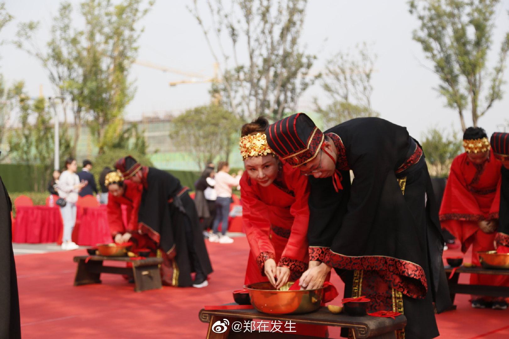 2019河南大型汉式集体婚礼正式开礼