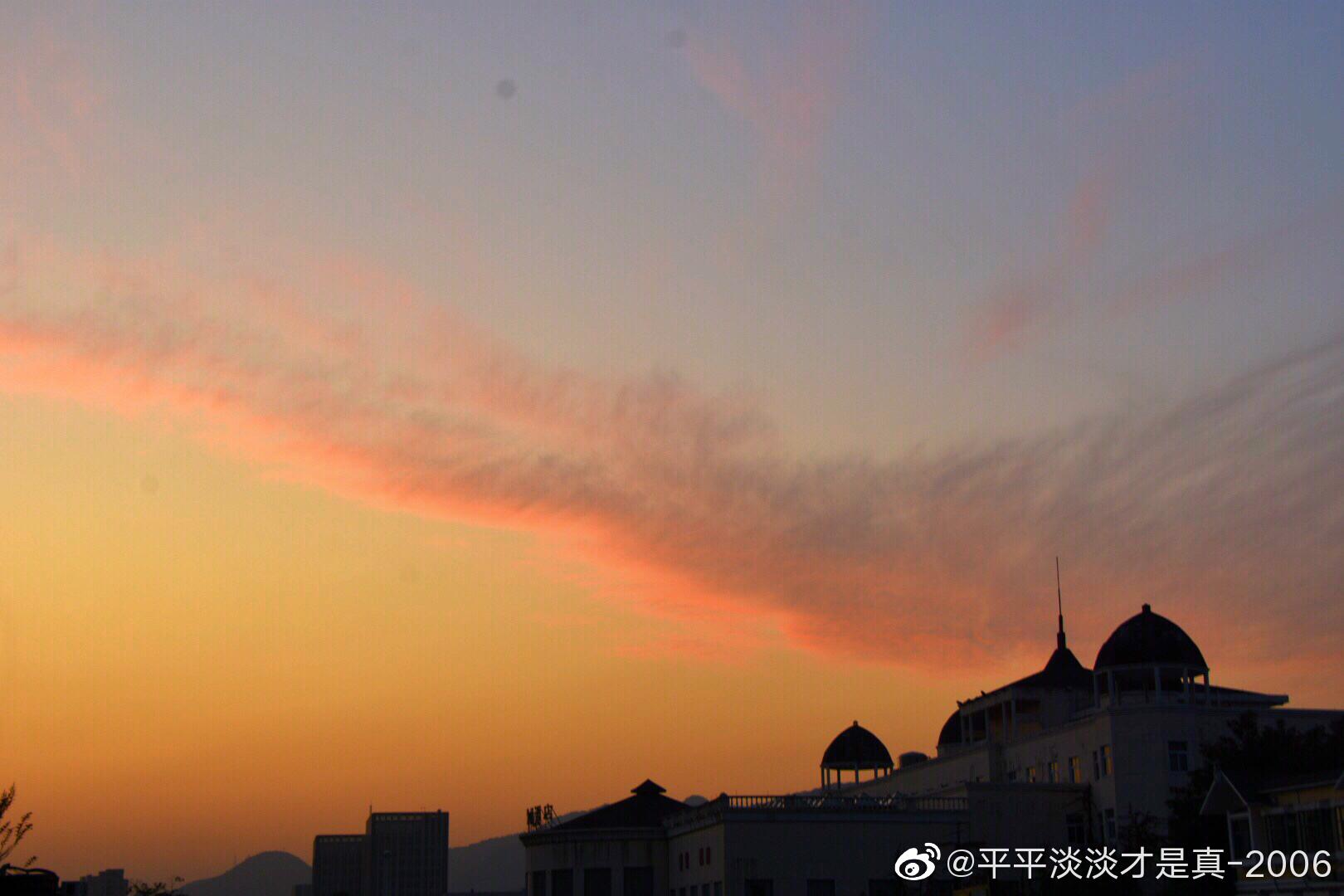昨晚杭州野生动物园的晚霞