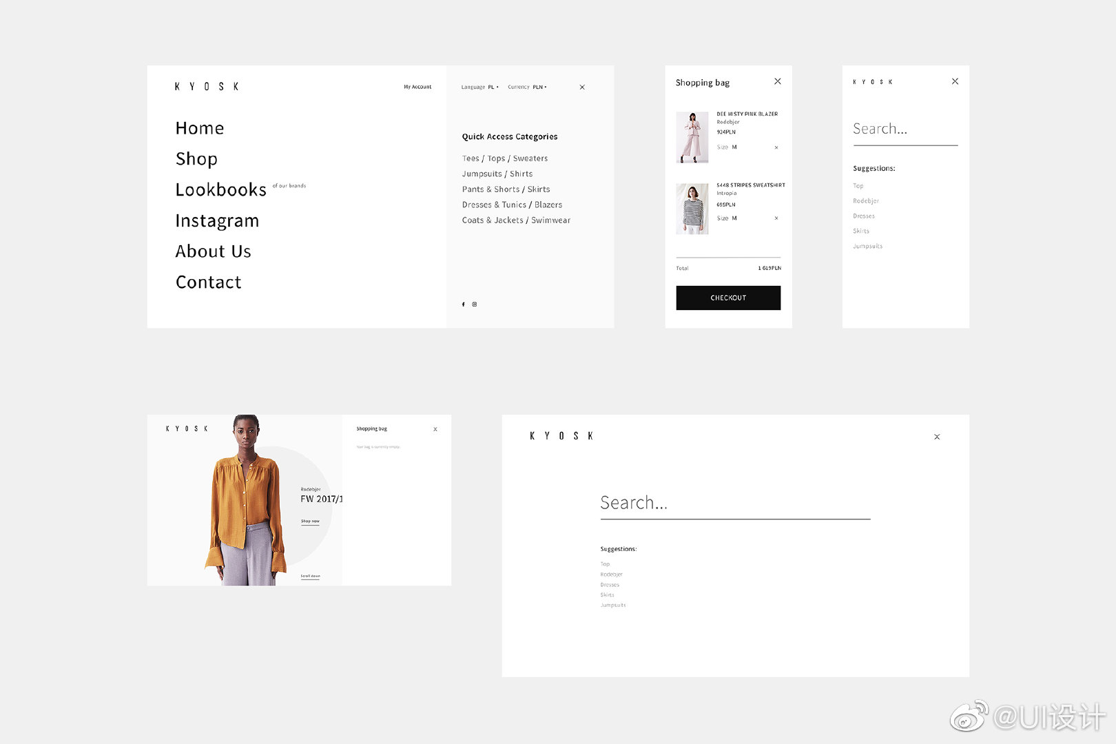 KYOSK Multibrand Store官方网站WEB灵感设计分享