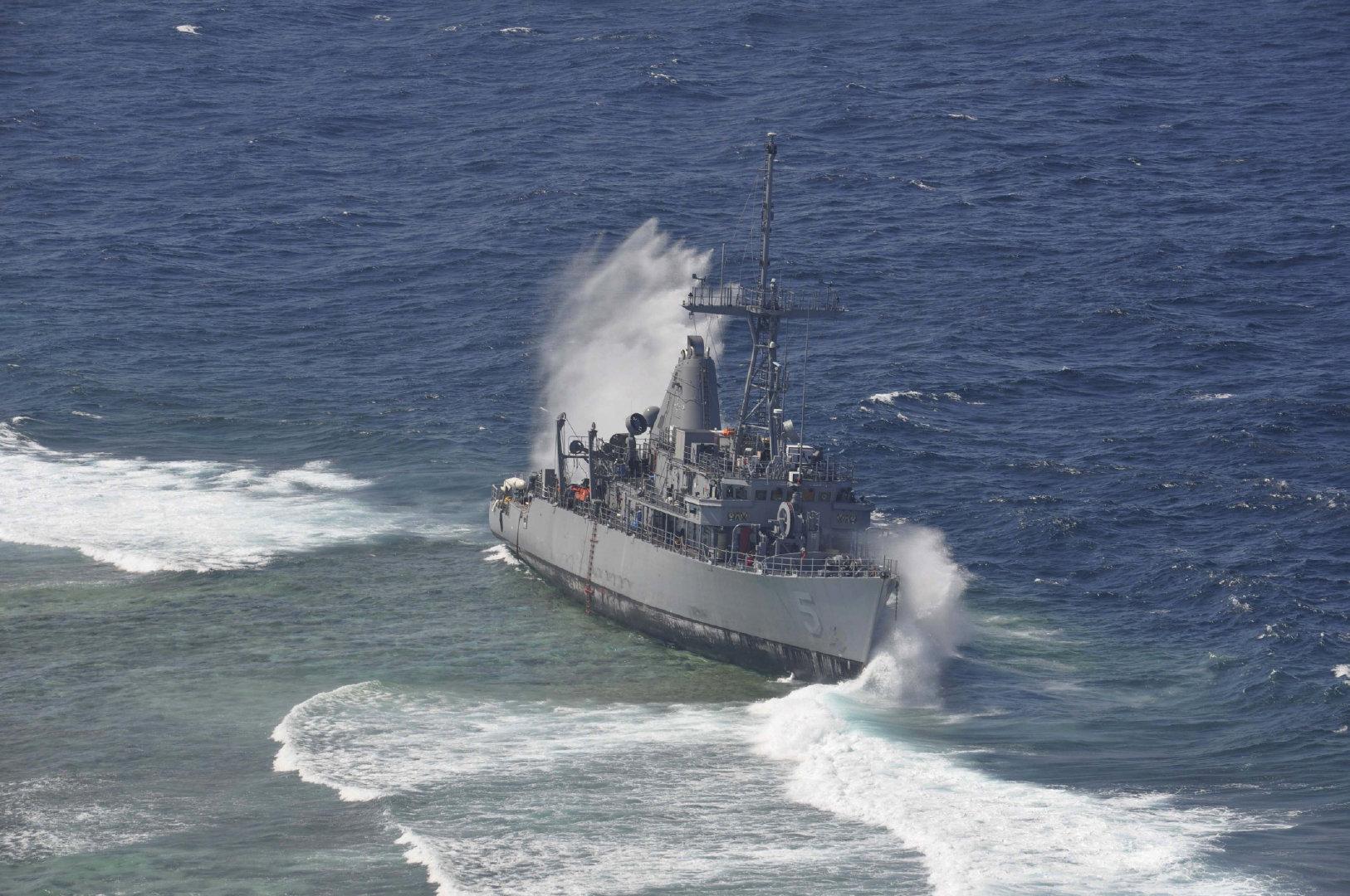 拆船解体系列,复仇者级猎雷舰MCM-5守护者号。1389吨,1987年下水
