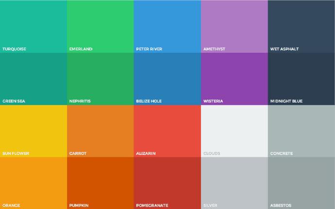 扁平化设计配色组合