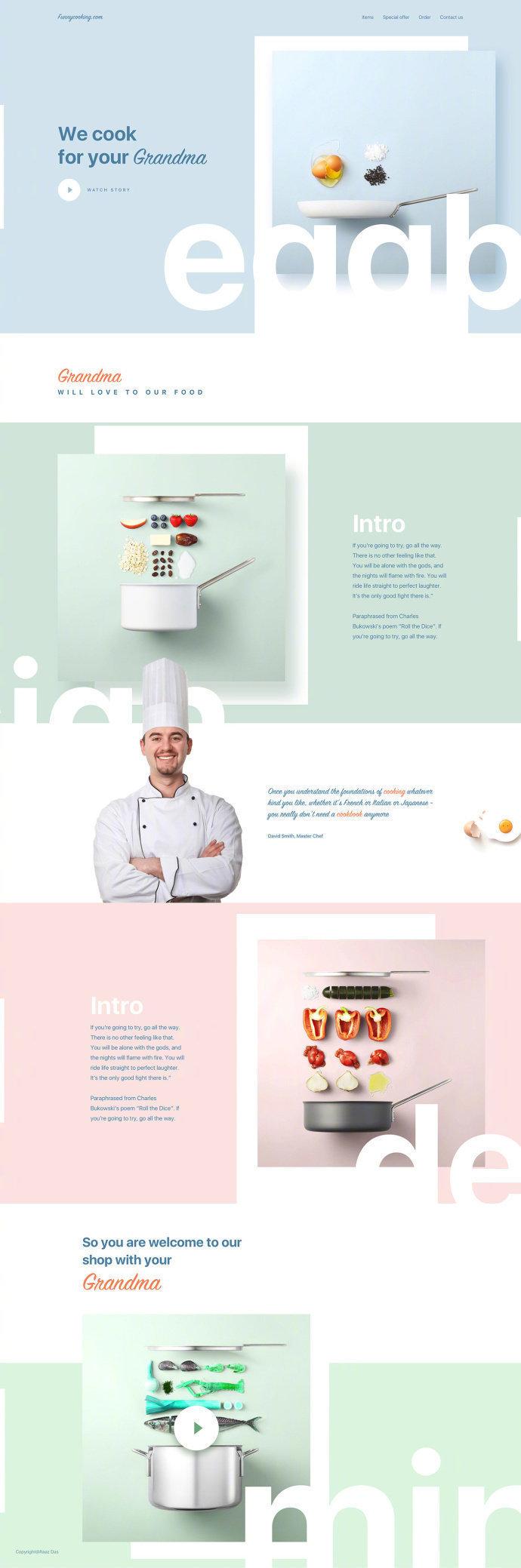简约时尚网页版式 设计参考