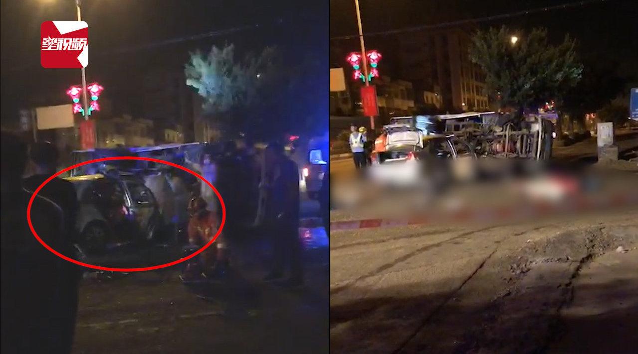 广东一轿车与道路清洁车碰撞,轿车驾乘人4死1伤:3人当场死亡