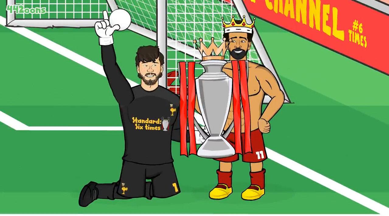动画恶搞利物浦2-0曼联,卡拉格、内维尔频繁抢镜
