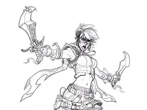 卡通动漫人物线稿手绘设计英雄人物表现,动画人物讲究人物造型