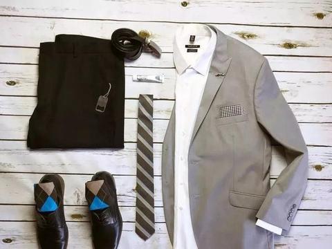 灰色西装,高级的时髦范,妥妥的