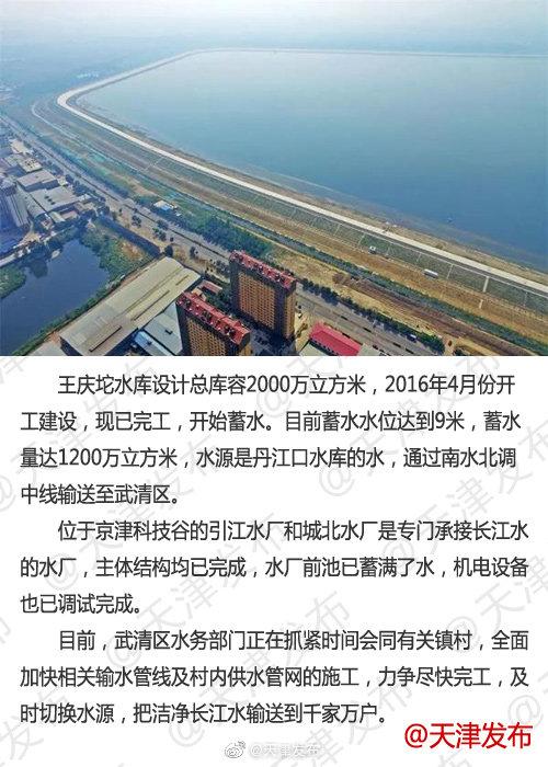 武清区替代现有饮用地下水源 66万村民将喝上长江水