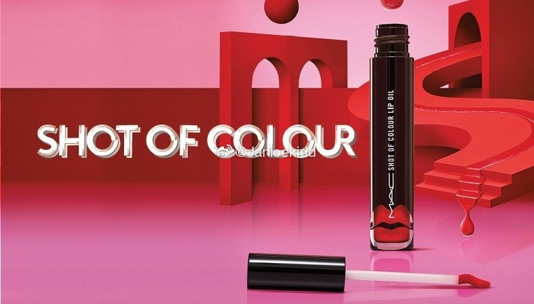 MAC 新品有色唇油 Shot Of Colour Lip Oil   兼备了光泽和高发色的有