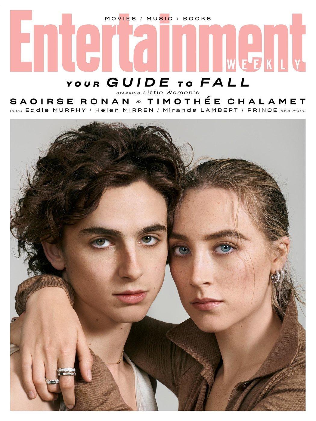 《小妇人》西尔莎·罗南和提莫西·查拉梅登上《娱乐周刊》杂志封面!
