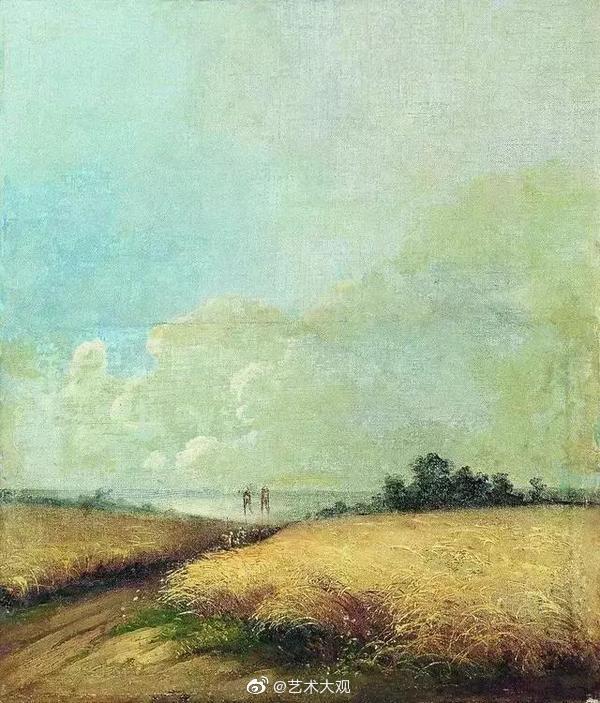 俄罗斯风景画派奠基者萨符拉索夫油画作品专辑-1莫斯科画家萨符拉索