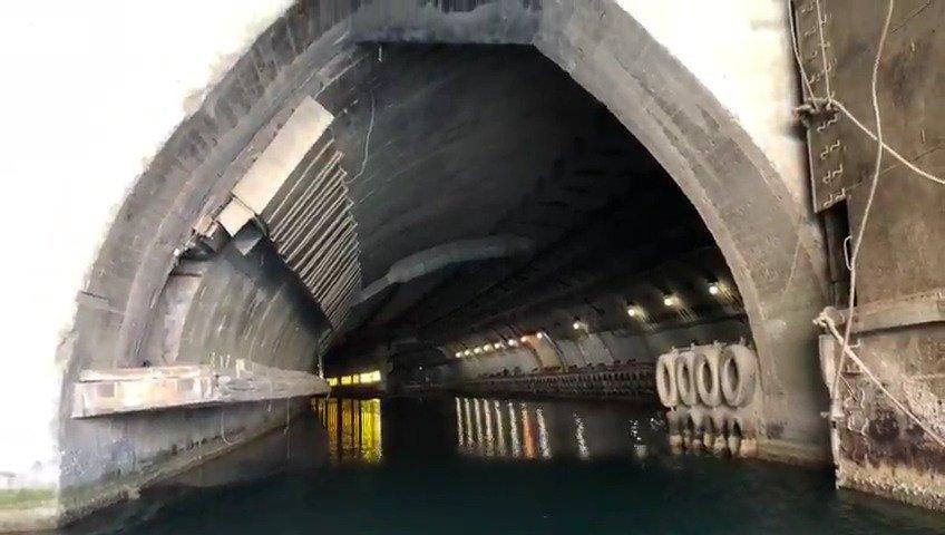 克里米亚巴拉克拉瓦的苏联潜艇洞库